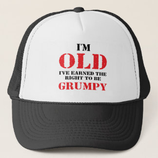 Funny Senior Citizen Gift Trucker Hat