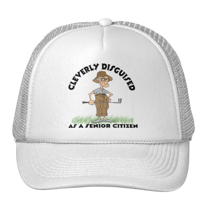 Funny Senior Citizen Golfer Mesh Hats