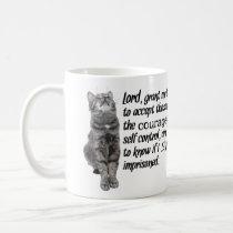 Funny Serenity Prayer With Cats Coffee Mug