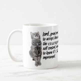 Funny Serenity Prayer With Cats Coffee Mug