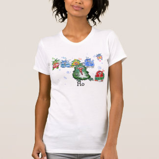 Funny Seven Christmas Cartoon Kiwi Birds T-shirt