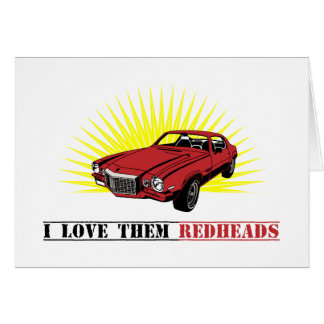 Funny Seventies Muscle Car Card