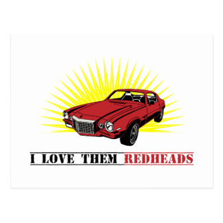 Funny Seventies Muscle Car Postcard