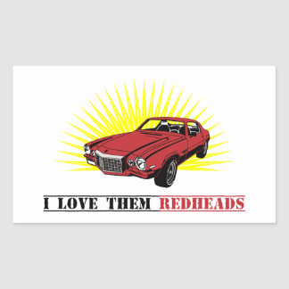 Funny Seventies Muscle Car Rectangular Sticker