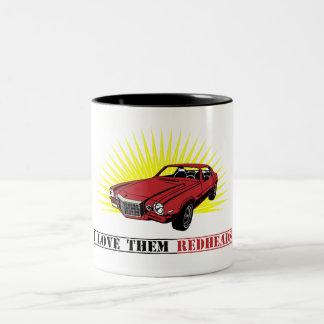 Funny Seventies Muscle Car Two-Tone Coffee Mug