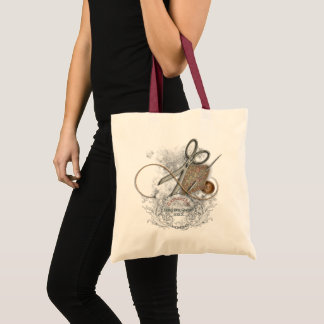 Funny Sewing Queen Tote Bag