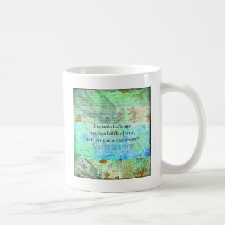 Funny Shakespeare insult quotation Elizabethan art Classic White Coffee Mug