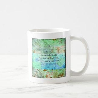 Funny Shakespeare insult quotation Elizabethan art Coffee Mug