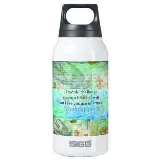 Funny Shakespeare insult quotation Elizabethan art Insulated Water Bottle