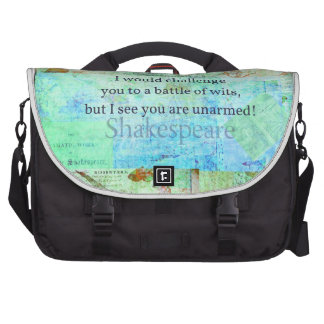 Funny Shakespeare insult quotation Elizabethan art Laptop Bag
