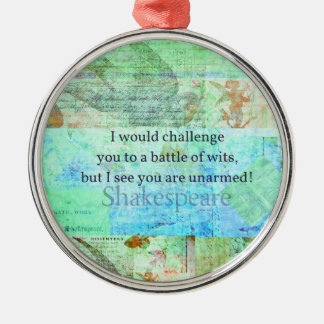 Funny Shakespeare insult quotation Elizabethan art Christmas Tree Ornament