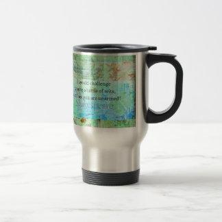 Funny Shakespeare insult quotation Elizabethan art Travel Mug