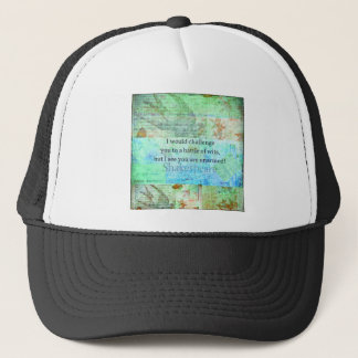Funny Shakespeare insult quotation Elizabethan art Trucker Hat