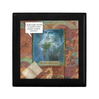 Funny Shakespeare insult quote Gift Box