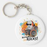 """Funny Shakespeare Slogan Gift """"Shakespeare Rocks"""" Basic Round Button Keychain"""