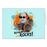 "Funny Shakespeare Slogan Gift ""Shakespeare Rocks"" Card"