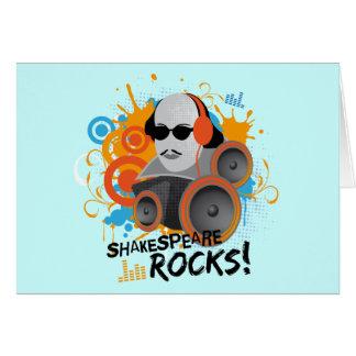 "Funny Shakespeare Slogan Gift ""Shakespeare Rocks"" Greeting Card"