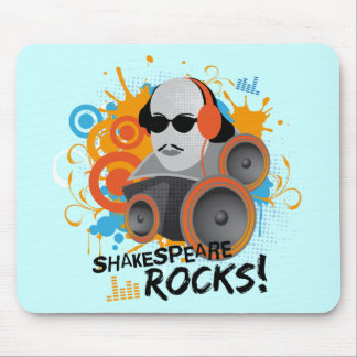 "Funny Shakespeare Slogan Gift ""Shakespeare Rocks"" Mouse Pad"