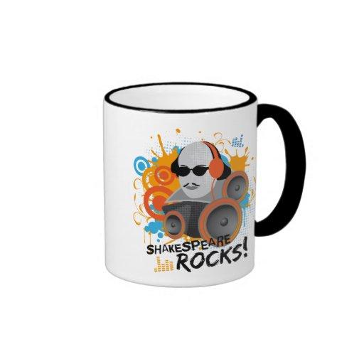 "Funny Shakespeare Slogan Gift ""Shakespeare Rocks"" Coffee Mugs"