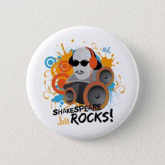 "Funny Shakespeare Slogan Gift ""Shakespeare Rocks"" Pinback Button"