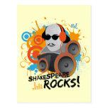 "Funny Shakespeare Slogan Gift ""Shakespeare Rocks"" Post Cards"