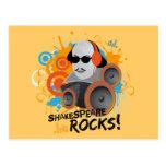 "Funny Shakespeare Slogan Gift ""Shakespeare Rocks"" Post Card"