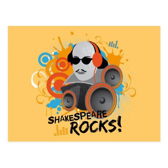 "Funny Shakespeare Slogan Gift ""Shakespeare Rocks"" Postcard"