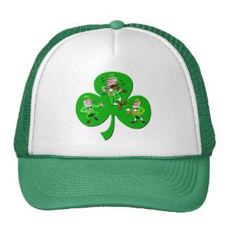 Funny shamrock trucker hat