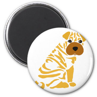 Funny Shar Pei Puppy Dog Abstract Art Magnet