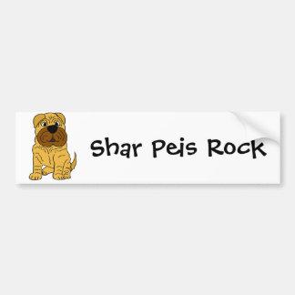 Funny Shar Pei Puppy Dog Original Art Bumper Sticker