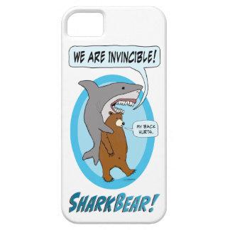 Funny Shark and Bear Phone Case