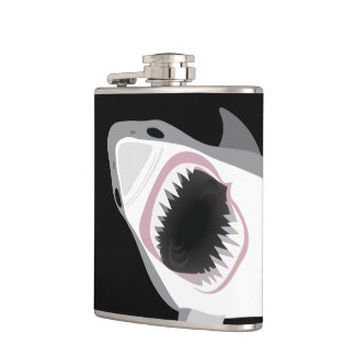Funny Shark Attack Hip Flask