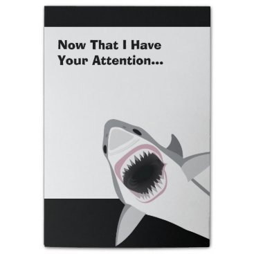 antiqueimages Funny Shark Attack Post-it Notes