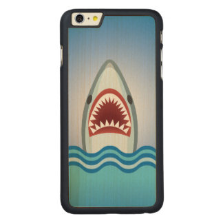Funny Shark Carved Maple iPhone 6 Plus Case
