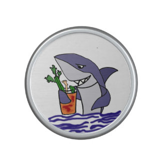 Funny Shark Drinking Bloody Mary Cartoon Speaker