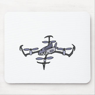 Funny Shark Drone Art Mouse Pad