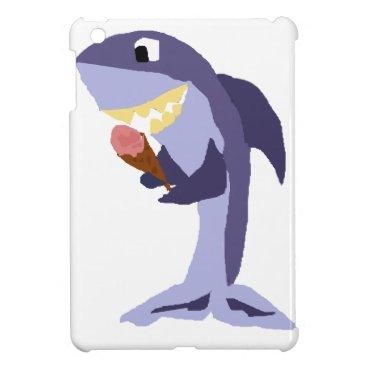 Beach Themed Funny Shark Eating Ice Cream Cone Case For The iPad Mini