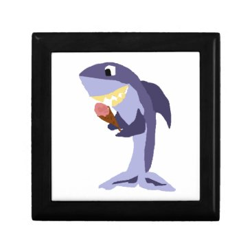 Beach Themed Funny Shark Eating Ice Cream Cone Gift Box