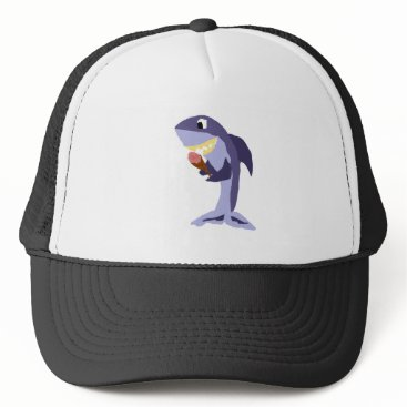 Beach Themed Funny Shark Eating Ice Cream Cone Trucker Hat