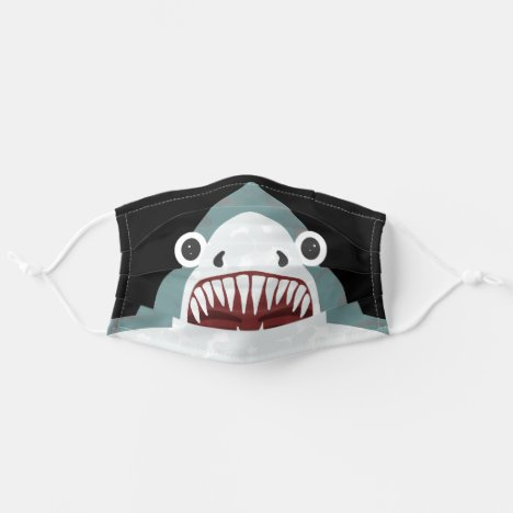 Funny Shark Face Kids Cartoon with Big Eyes Adult Cloth Face Mask