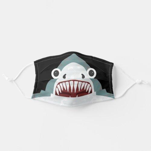 Funny Shark Face Kids Cartoon with Big Eyes Adult Cloth Face Mask