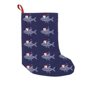 Funny Shark in Santa Hat Christmas Stocking