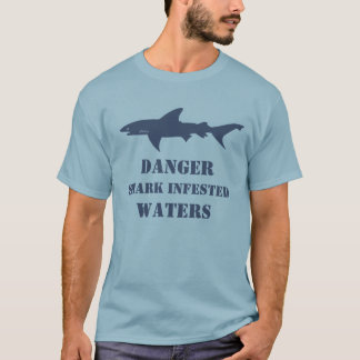Funny Shark Infested Waters Scuba Diver Gift T-Shirt