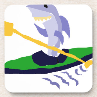 Funny Shark Kayaking Coaster