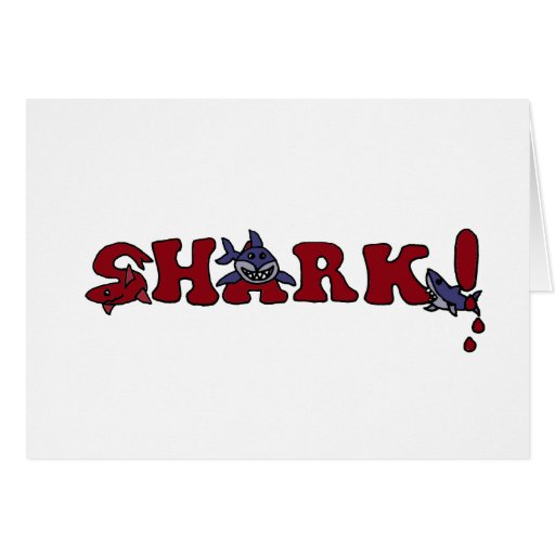 Funny Shark Letters With Sharks Art Greeting Card