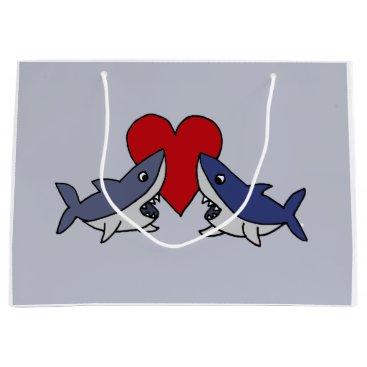 Valentines Themed Funny Shark Love Gift Bag