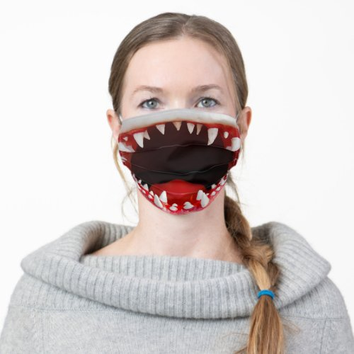 Funny Shark Mouth Adult Cloth Face Mask
