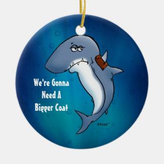 Funny Shark Needs A Bigger Coat Ornament