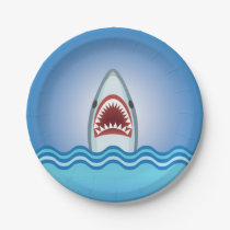 Funny Shark Paper Plate