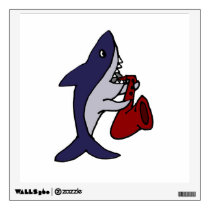 Funny Shark Playing Saxophone Wall Decal